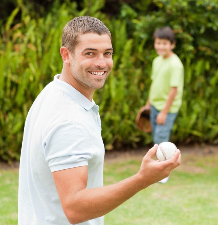 baseball with son